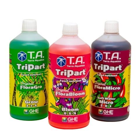 Набор удобрений Tripart  Terra Aquatica (GHE) Soft Water по 1 л