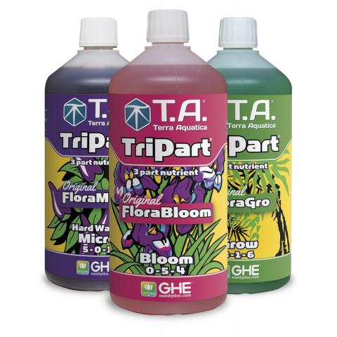 Набор удобрений Tripart Terra Aquatica (GHE) Hard Water по 1 л