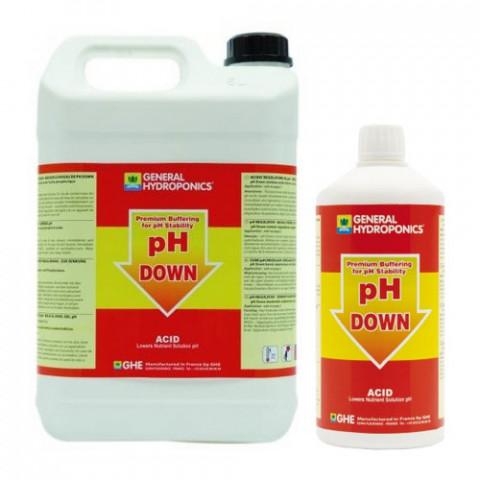 pH Down GHE жидкий понизитель pH со стабилизатором