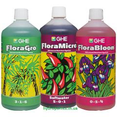 Набор Flora Series GHE 3 по 1 л для мягкой воды